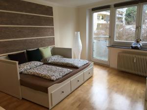 Ein Bett oder Betten in einem Zimmer der Unterkunft Apartment am Bach