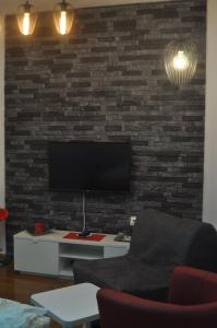 A television and/or entertainment center at Apartments Home1 Zagreb