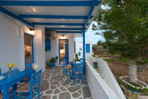 Een balkon of terras bij Studios Eleni