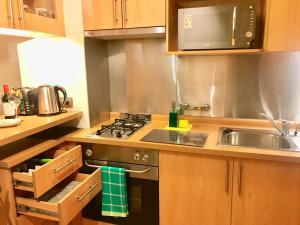 Una cocina o zona de cocina en Providencia Plaza
