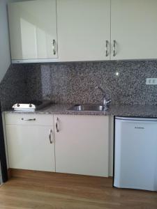 A kitchen or kitchenette at Apartamentos Koka