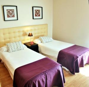 Un pat sau paturi într-o cameră la Aparthotel Encasa