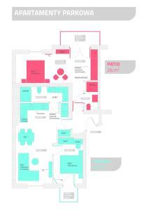 The floor plan of Parkowa