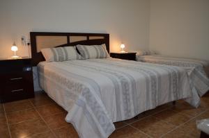 Una cama o camas en una habitación de Departamento Ciudad De Santa Rosa