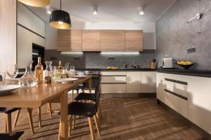 Kuchyň nebo kuchyňský kout v ubytování Rezidence Adalbert