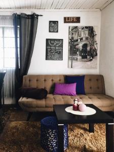 A seating area at Casa Urgueira