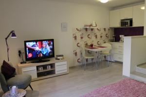 A television and/or entertainment center at Design Studios Svi-Mi