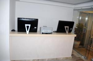 The lobby or reception area at Aria Hotel Samos Town