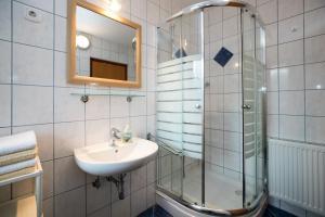 A bathroom at Apartments Markež