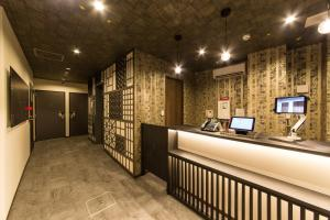 The lobby or reception area at JAPANING HOTEL Kyoto Hachijoguchi