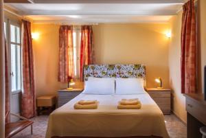 מיטה או מיטות בחדר ב-Villa View