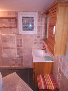 Salle de bains dans l'établissement Maisonette des Viliers