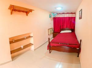 A bed or beds in a room at Casa El Diamante