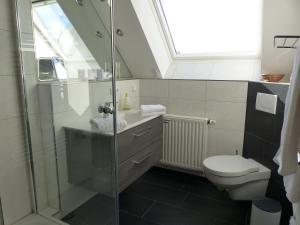 Koupelna v ubytování Auszeit am Niederrhein