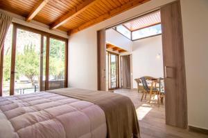 Cama o camas de una habitación en Aldea del Valle - Elqui Villas, Pisco Elqui