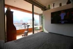 Majoituspaikan Apartamento Alto Bogotá kuntosali tai liikuntatilat