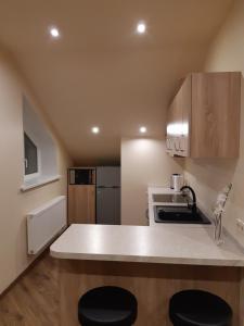A kitchen or kitchenette at Zveryno guest house