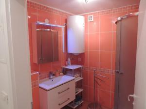 Ein Badezimmer in der Unterkunft Apartma Bovec