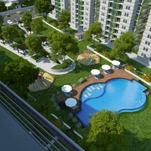A view of the pool at Ecovivienda Apartment or nearby
