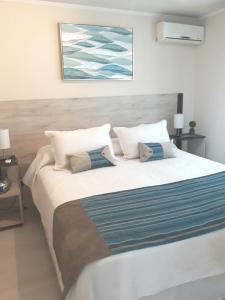 Cama o camas de una habitación en Espacio Cordillera