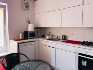 Virtuvė arba virtuvėlė apgyvendinimo įstaigoje Perfect Apartments