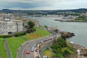 A bird's-eye view of Ocean Crescent Plymouth city centre penthouse level