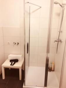 حمام في Blue apartment