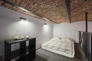Кровать или кровати в номере Rabarbar