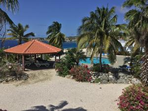 A view of the pool at Oceanfront Townhome in Marazul Dive Resort or nearby