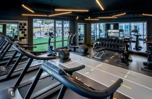 Sporto salė apgyvendinimo įstaigoje Somerset Maslak Istanbul