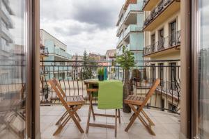 Balkon lub taras w obiekcie Kazimierz Paradise - River Boulevard