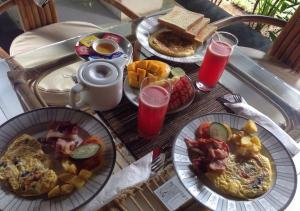 Breakfast options available to guests at Radiant Jepun Villa