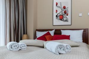 Łóżko lub łóżka w pokoju w obiekcie Kazimierz Paradise - River Boulevard