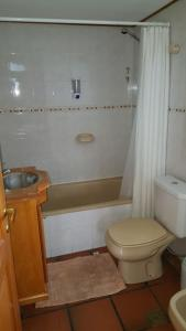 Un baño de Departamento céntrico en Pequeña Comarca.