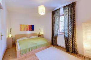 Ein Bett oder Betten in einem Zimmer der Unterkunft Ferienwohnung Mariazell