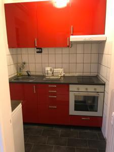 Küche/Küchenzeile in der Unterkunft Studio Schenefeld