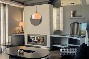 A seating area at Luxury Villa Melissa