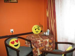 A seating area at Kostyushko Apartment