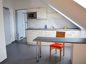 Küche/Küchenzeile in der Unterkunft Apparthotel Ampertal