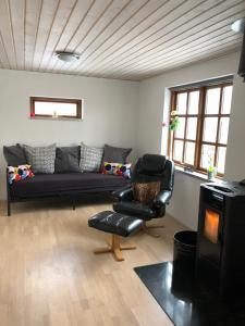 Een zitgedeelte bij Holiday House Billundvej 74
