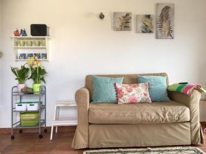 A seating area at Casa Azul