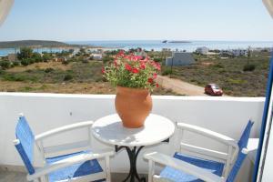 A balcony or terrace at Agnadi Studios