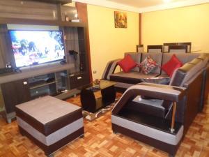 Zona de estar de Apartment House Malena