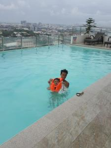 The swimming pool at or near Mabolo Garden Great Room