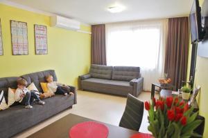 A seating area at Apartment Gino Besenova