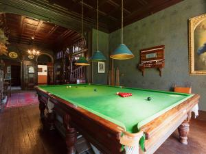 A billiards table at Kinlochmoidart House