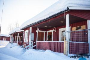 Umnäs Adventure Cabins during the winter