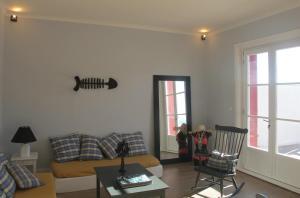 Ein Sitzbereich in der Unterkunft Appartement bord de mer - Hossegor