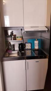 Dapur atau dapur kecil di Business style apartment in Helsinki city center
