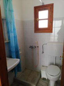 A bathroom at Poseidonio of Paros